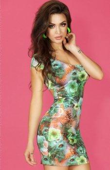 Chilirose CR-3684 sukienka zielona