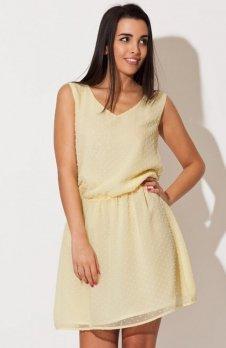 Katrus K154 sukienka żółta
