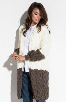 Fobya F571 sweter brązowy