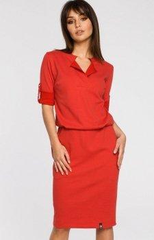 BE B056 sukienka czerwona