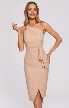 Elegancka sukienka na jedno ramię M572