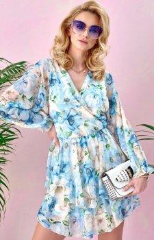 *Sukienka z kopertowym dekoltem 0331/U48