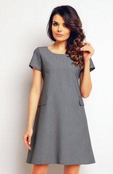 Infinite You M081 sukienka szara