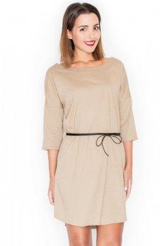 Katrus K335 sukienka beż