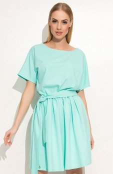 Makadamia M334 sukienka miętowa