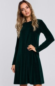Zielona welurowa sukienka Moe M566