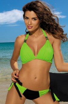 Marko Kostium kąpielowy Roxie Nero-Smile M-326 zielony z czernią (101)