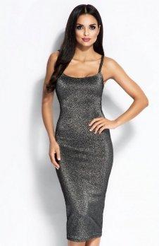 Dursi Charme sukienka srebrna