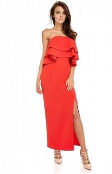 Maxi sukienka z hiszpańskim dekoltem