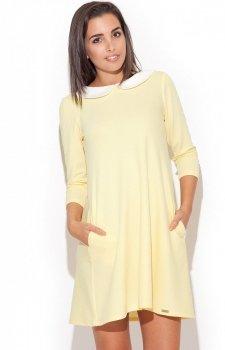 Katrus K218 sukienka żółta