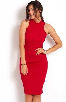 Ołówkowa sukienka czerwona Rosa