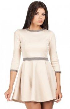 Moe MOE052 sukienka beżowa