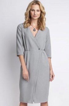 Lanti SUK131 sukienka szara