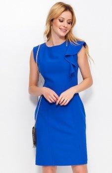 *Makadamia M400 sukienka chabrowa