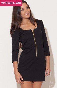 *Katrus K104 sukienka czarna