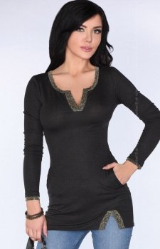 Merribel Glam CG030 bluzka czarna