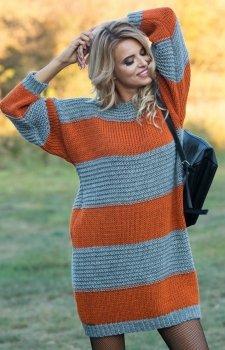*Fobya F575 sukienka pomarańczowy