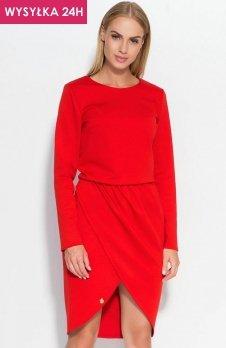 *Makadamia M327 sukienka czerwona