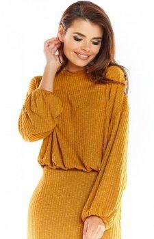 Sweter z kimonowymi rękawami karmelowy A318