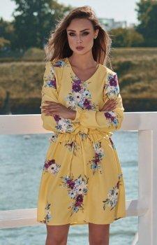 Lemoniade L275 sukienka żółta w kwiaty