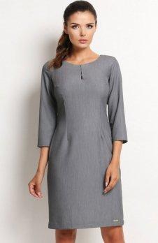 Awama A124 sukienka szara