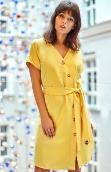 BE B111 sukienka żółta