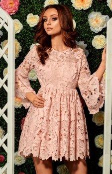 *Lemoniade L262 sukienka pudrowy róż