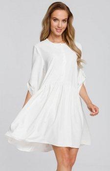 Luźna sukienka ecru M427