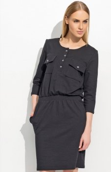 Makadamia M310 sukienka czarna