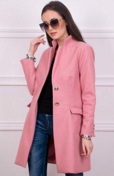 Wiosenny płaszcz różowy Roco 008