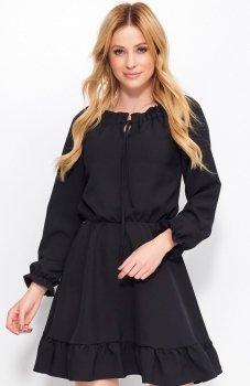 Makadamia M384 sukienka czarna