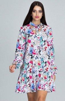 Figl M599 Wzór 78 sukienka w kwiaty