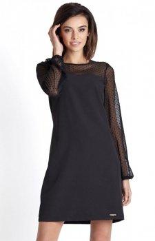 *Ivon Daniela sukienka czarna kropki