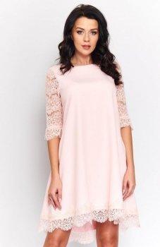 Roco 0188 sukienka pudrowy róż