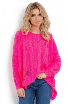 Fobya F625 sweter różowy neon