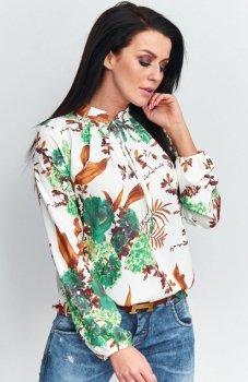 Roco B046 bluzka zielona w kwiaty