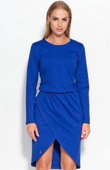 Makadamia M327 sukienka chabrowa