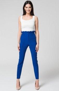 Mosali M032 spodnie z wysokim stanem niebieskie