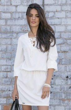 Fobya F544 sukienka biała