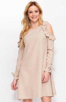 Makadamia M402 sukienka beżowa