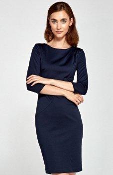 Nife S88 sukienka granatowa