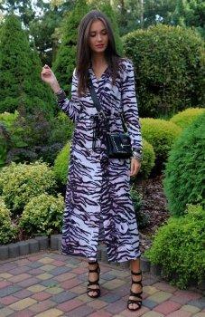 Roco 0220 sukienka długa wzór tygrysa