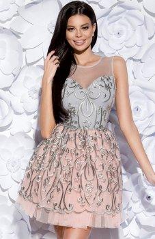 Bicotone 2129-03 sukienka szara