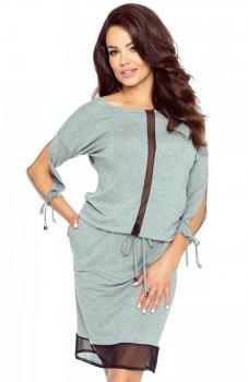 Bergamo 82-01 sukienka szara