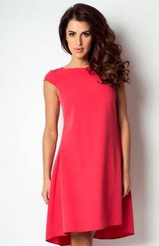 *Ivon 184 sukienka malinowa czerwień