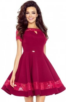 Bergamo 59-03 sukienka bordowa