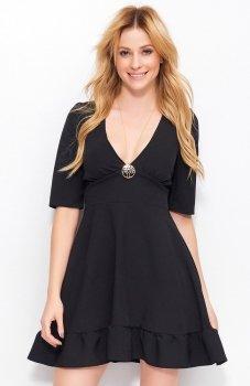 Makadamia M391 sukienka czarna