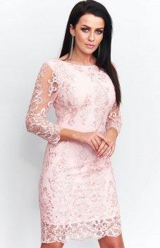 Roco 0122 sukienka różowa