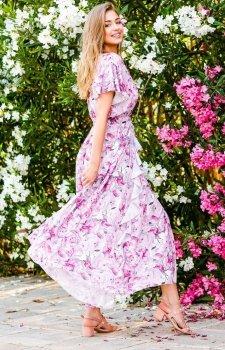 Elegancka sukienka maxi w kwiaty F726