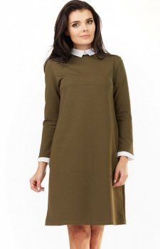 Awama A204 sukienka  khaki